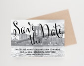 Brooklyn Bridge Save The Date, Brooklyn, New York, Destination Wedding, Wedding Announcement