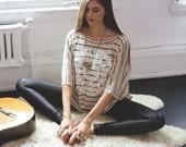 hemp clothing // yoga clothing // striped poncho