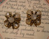 Vintage Moonglow Buttons - Set Of Two