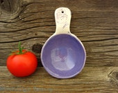 Pottery Serving Spoon - Ladle in Purple - Large Scoop - by DirtKicker Pottery