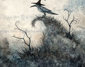 LAST ONES crow fairy witch 8.5x11 PRINT Keeper by Amy Brown
