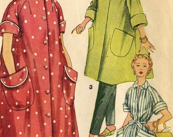 Vintage Simplicity 4471 Misses I Love Lucy Swing Coat, Robe and Coat Dress Sewing Pattern Size 18 Bust 36