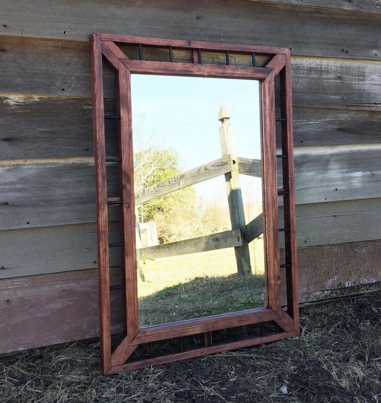 Industrial mirror rustic home decor modern rustic mirrors Home interiors mirrors