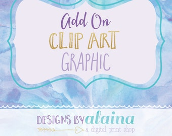 Add On Clip Art Graphic // Extra Art