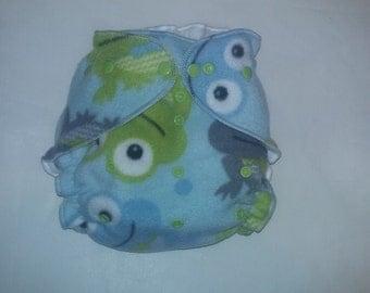 Frog Fleece diaper cover wrap