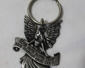 Vintage Guardian Angel Keychain