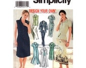 Womens Sewing Pattern Simplicity 7162 Shirt Dress In Two Lengths, Shirt, Skirt & Pants Design Your Own Womens Size 6 8 10 12 UNCUT