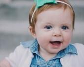 Cailey - single petite felt bow headband - you pick color