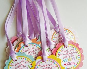 Cupcake Birthday Party Favor Tags Fully Assembled Decorations