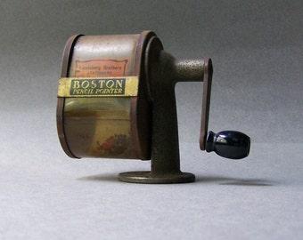 Antique Pencil Sharpener ~ BOSTON Pencil Pointer ~ Boston Specialty Corp