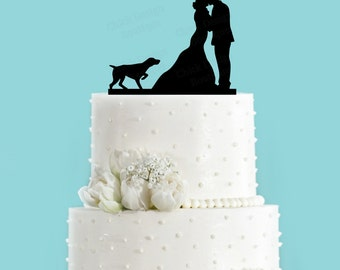 german shorthaired pointer wedding cake topper vizsla silhouette etsy 14674
