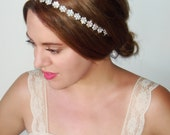 Rhinestone Headband, Bridal headband, Wedding headpiece, Bridal hairpiece, Silver bridal, Wedding Headband, Hair Accessory- Bloom
