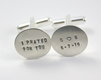 I Prayed For You Cuff Links - Personalized Cuff Links - Wedding Day Cuff Links - Cuff Links For Groom - Gift For Groom - Wedding Cufflinks