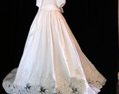 "Angela West   ""Oriana V""Christening gown latest generation with French Alencon lace.Size TBD accessories and monogram included"