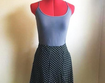 Vintage 90s POLKA DOT Skirt / By EXPRESS / Womens Size Small