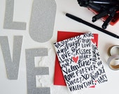 Valentine, Hand lettered, XOXO, Sweetheart, Be Mine, Folded Note Cards, Galentine's Day, Valentine's Day, Stationery, Love Note, Heart