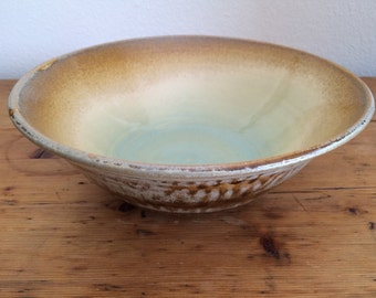 50% off: Pottery Multi Colored Handthrown Bowl