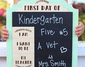 Personalized First Day Of Chalkboard School Sign Kindergarten First Grade Preschool CUSTOM Made Pick Your Color (NVMHDAY0756)