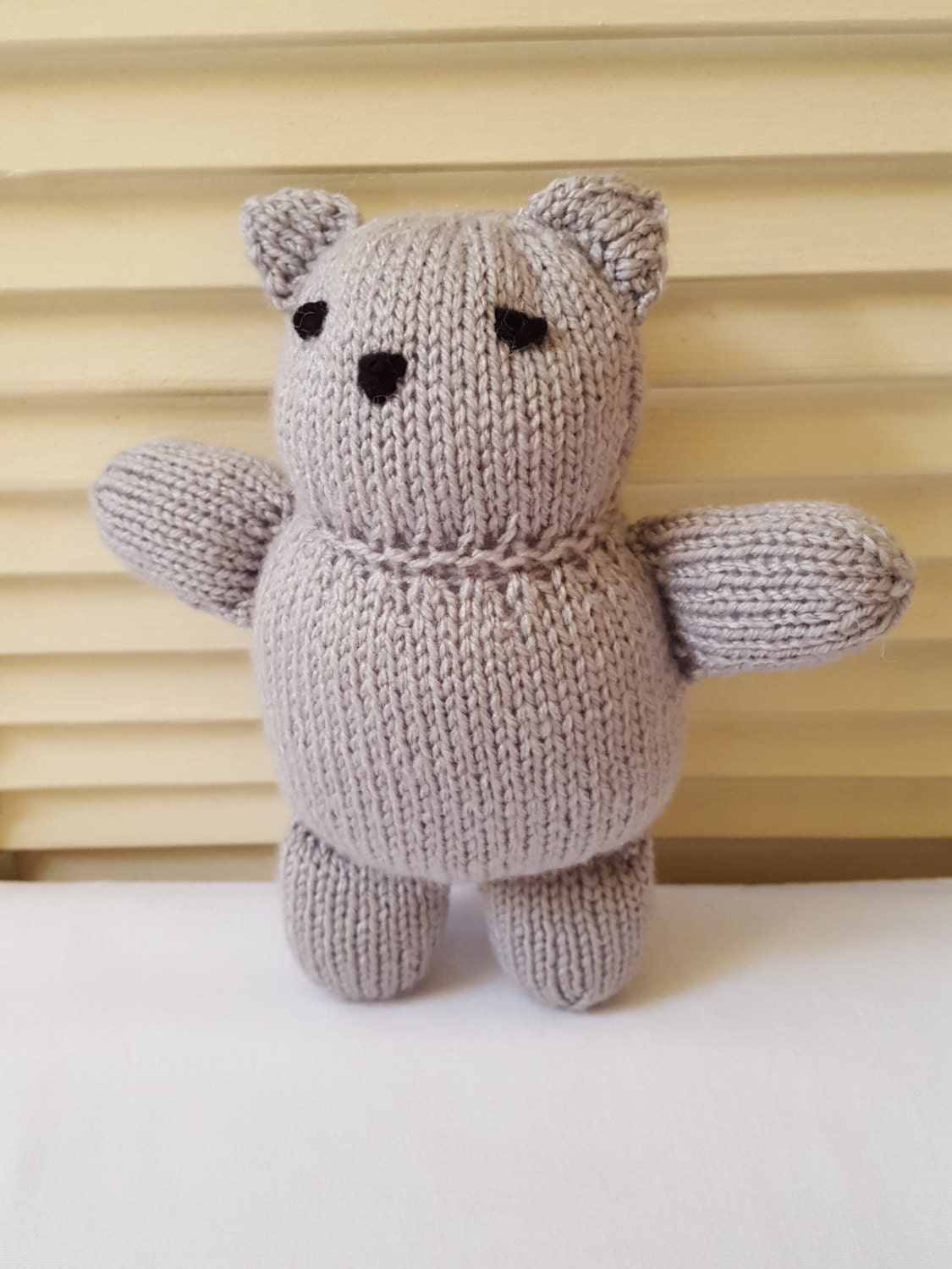 Hand Knitted Toys : Kitty cat stuffed animal toy hand knitted amigurumi doll