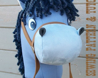 Stick Horse Sewing Pattern and Tutorial Rustic Horseshoe's Cartoon Collection Stick Horse Hobby Horse