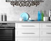 Personalized Kitchen Wall Decal- kitchen decals, Decals, kitchen quotes, decals, Personalized, kitchen decor, name decal, kitchen decal CB30