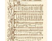 Since I Have Been Redeemed - Hymn Wall Art- Custom Christian Home Decor- VintageVerses Sheet Music- Inspirational Wall Art- Music Art Lilies