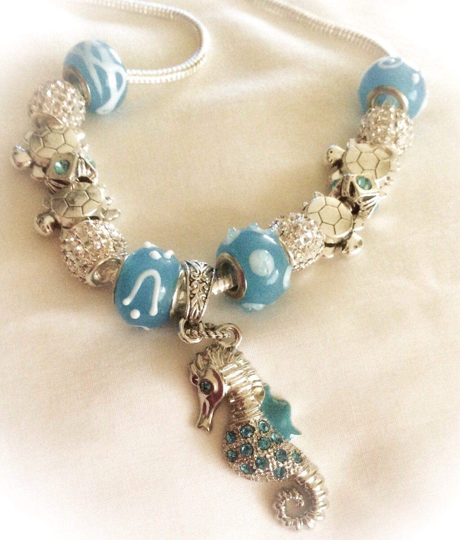SEAHORSE Beach Necklace Birthday Gift Nautical Jewelry