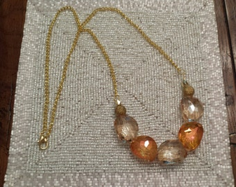 Gold and Bronze Long Necklace