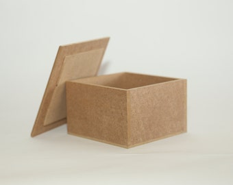 Wooden Box with Removable Lid