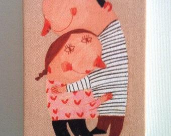 big love / Tiny canvas print