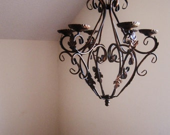 Hand-painted Oil Rubbed Bronze Queen Candle Chandelier MADE TO ORDER