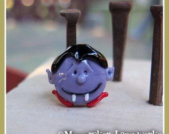 Vampire Monster Halloween Lampwork Bead