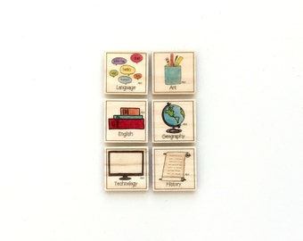 Secondary School - Magnet Set of 6 - Homework Magnets - Chore Magnets
