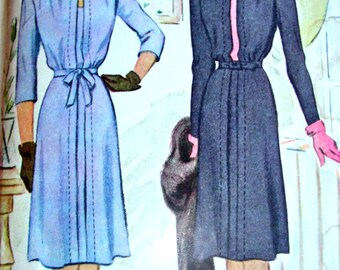 UNCUT * 1940's McCall Pattern 5410  *  Gorgeous Ladies'  Day or Date Night Dress with Unique Bows & Topstitching   * Size 20 *  Bust 38