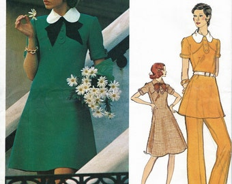 Nina Ricci Designer * Vogue Paris Original Pattern 2714 * UNCUT * Misses' Mini Dress, Tunic and Pants  *  Bust 36