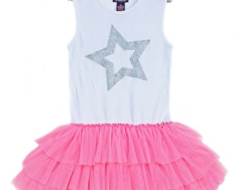 Birthday Star Tutu Dress, Rock Star Dress, Rock Star Birthday Party, American Girl Dress, Girls Tutu Dress, Birthday Dress