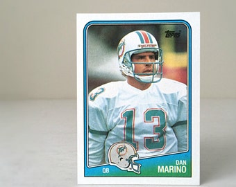 Vintage Dan Marino Football Card, Miami Dolphins Gift for Men, 1988 Topps Trading Card, NFL Gift for Dad, Hall of Fame Quarterback