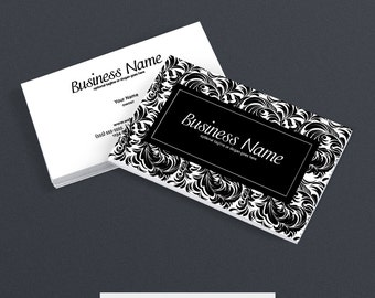 30% OFF SALE Business Card Designs - 2 Sided Printable Business Card Design - The Mia Collection