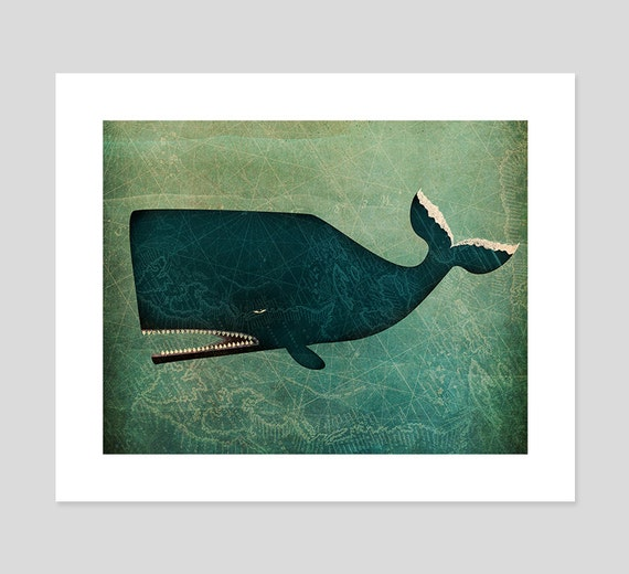 The Whale Archival Pigment Print Giclee inches SIGNED