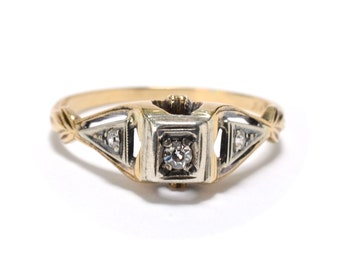 Edwardian Diamond Engagement Ring - Size 7