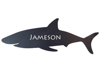 shark nursery, shark wall decor, shark wall art, shark room decor, navy shark, bathroom decor, personalized shark, nautical nursery