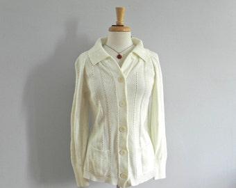 White cardigan | Etsy
