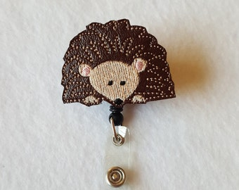 Hedgehog ID Badge Reel Holder