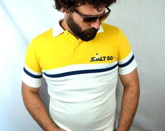 Vintage 1980 Striped Polo Shirt
