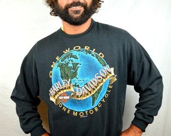 Vintage 80s 90s Harley Davidson Sweatshirt - Seattle Washington