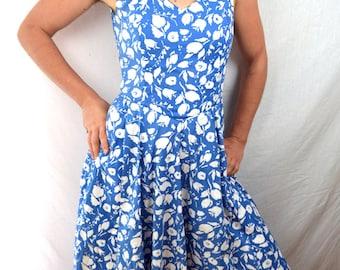 Vintage 80s Floral Laura Ashley Summer Dress