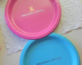 Paper plates with custom foil - set of 10