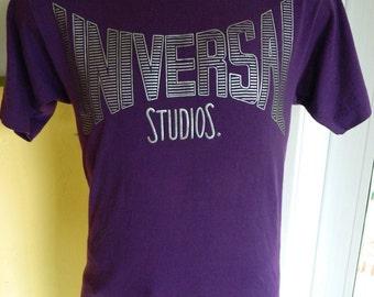 Universal Studios 1990s purple vintage tee shirt size large