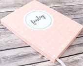 Lined Journal / Baby Journal / Pregnancy Journal / Baby Shower Gift / Guest Book / Personalized/ Arrows / Custom