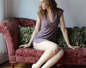 bamboo sleepwear tunic or chemise with lace trim - CATHEDRAL lingerie range - made to order